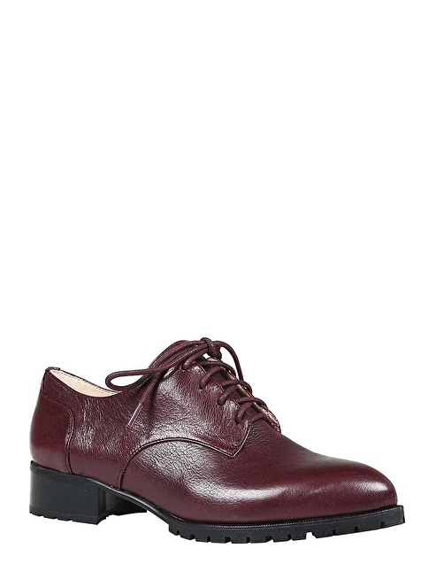 Nine West %100 Deri Casual Ayakkabı Bordo